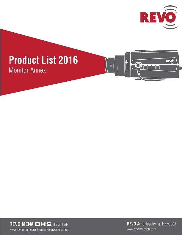 REVO Product List - Monitor Annex